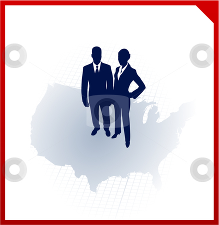 Business team silhouettes on corporate elegance background stock vector clipart, Original Vector Illustration: business team silhouettes on corporate elegance background AI8 compatible by L Belomlinsky