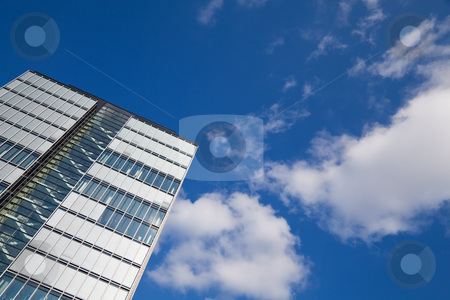 Corporate Background stock photo, Modern architectureand blue sky by Interlight