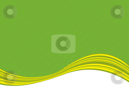 Green stripe background and curve stock photo, Illustration drawing of stripe background and curve by Su Li
