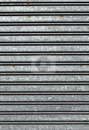 Close up of shop warehouse security shutters. stock photo, Close up of shop warehouse security shutters. by Stephen Rees