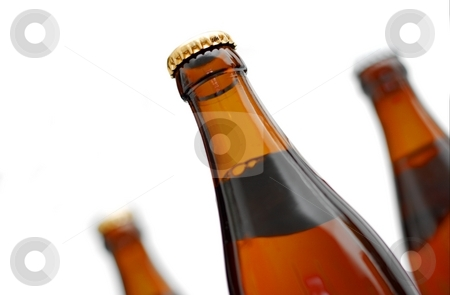 Bottles stock photo, Three brown bottles isolated on white by P?