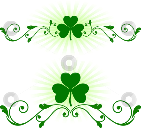 St patrick s day green background stock vector clipart by l