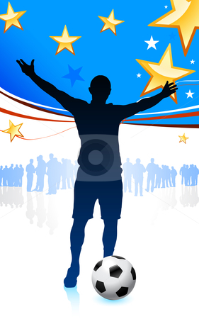 United States Soccer Player stock vector clipart, United States Soccer Player Original Vector Illustration by L Belomlinsky