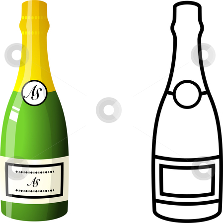 Champagne Bottle stock vector clipart, Champagne Bottle Original ...