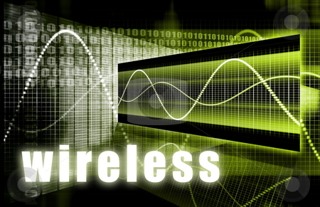 Wireless stock photo, Wireless Technology as a Wifi Digital Background by Kheng Ho Toh