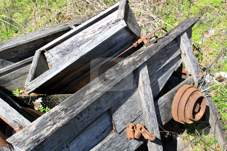 Old Farm Sorting  stock photo, Old wooden farm processor by Carl Stewart