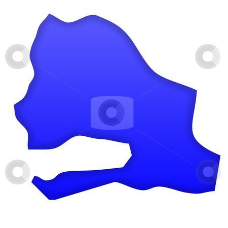 Senegal map stock photo, Senegal map in blue isolated on white background with clipping path and copy space. by Martin Crowdy
