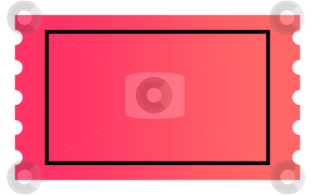 Blank ticket stock photo, Blank ticket with copy space isolated on white background. by Martin Crowdy