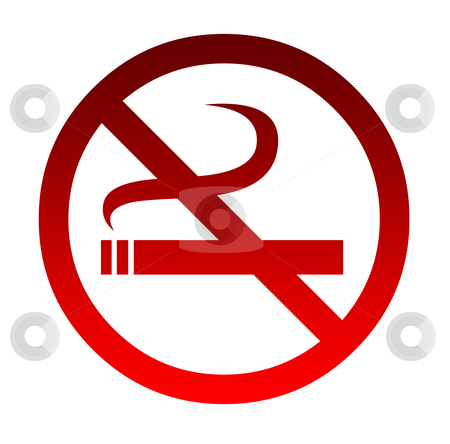 No smoking sign stock photo, No smoking sign isolated on a white background. by Martin Crowdy