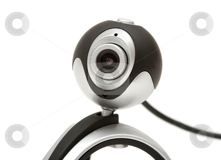 Webcam stock photo, Webcam isolated on white background by P?