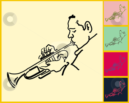 Live Jazz & Blues stock vector clipart,  by L Belomlinsky