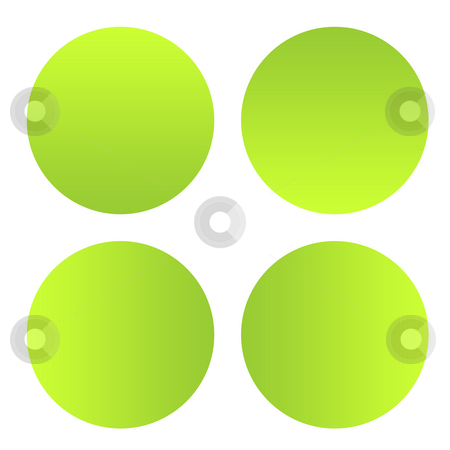Green eco buttons stock photo, Set of four green gradient eco buttons, isolated on white background with copy space. by Martin Crowdy