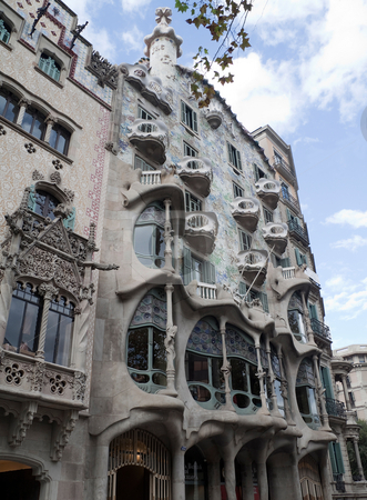 Casa Batllo stock photo, Casa Batllo in Barcelona, Spain by architect Gaudi by Kevin Tietz