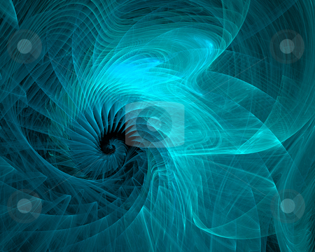 Abstract aquamarine spiral stock photo, Abstract aquamarine spiral on black background by Igor Nazarenko