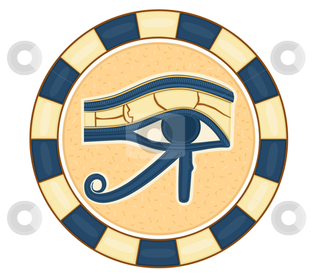 The Eye of Horus stock vector clipart, The Eye of Horus (Eye of Ra, Wadjet) believed by ancient Egyptians to have healing and protective powers. Vector illustration saved as EPS AI8. by Andreea Chiper