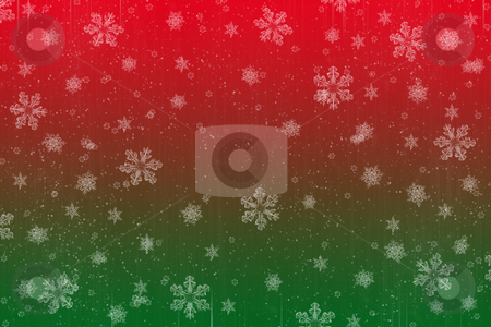 Christmas snow stock vector clipart, Abstract red and green christmas snow image for a great background by Phil Morley