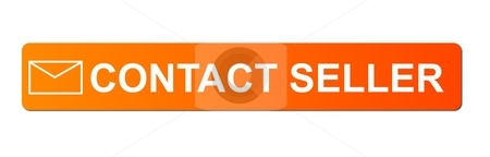 Contact Seller Orange stock photo, Buy now button with a shopping cart on white background. by Henrik Lehnerer