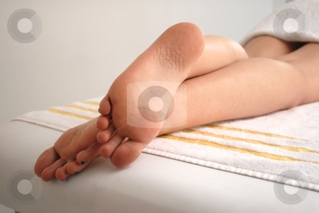 Woman in spa stock photo, Woman in dayspa, relax and enjoying the treatment by Gabriel Gonzalez