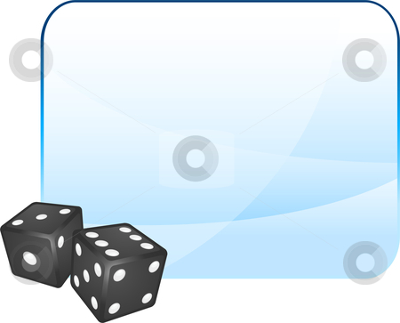 Black Dice on Blank Background stock vector clipart, Black Dice on Blank Background Original Vector Illustration Dice Ideal for Game Concept by L Belomlinsky
