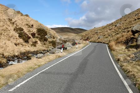 Single lane narrow country to Cymystwyth in Wales UK. stock photo, Single lane narrow country to Cymystwyth in Wales UK. by Stephen Rees