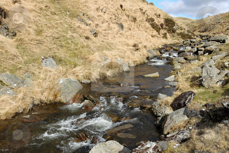 The Ystwyth strean near Cwmystwyth, Wales UK. stock photo, The Ystwyth stream near Cwmystwyth, Wales UK. by Stephen Rees