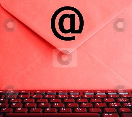 Email concept stock photo, Email concept with envelop computer keyboard and copyspace by Gunnar Pippel