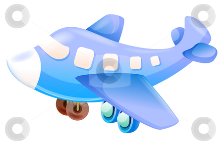 Cartoon aircraft stock photo, Toy of  aircraft isolate on the white background by Su Li