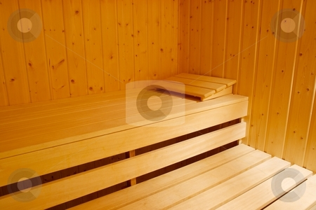 Sauna stock photo, Interior of a sauna by P?