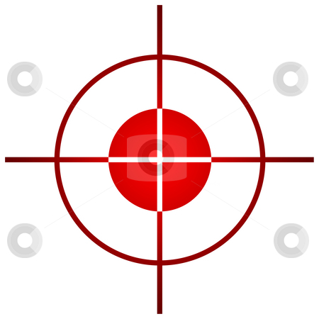 Sniper target sight or scope stock photo, Sniper target scope or sight, isolated on white background. by Martin Crowdy