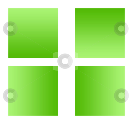 Green gradient buttons stock photo, Green gradient buttons with copy space, isolated on white background. by Martin Crowdy