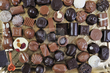 Chocolate and praline stock photo, Luxury and sweet praline and chocolate decoration food close up by Benis Arapovic