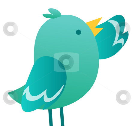 Bird stock photo, Illustration of cartoon bird  isolate on white background by Su Li