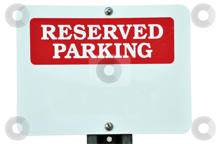 Blank reserved parking sign stock photo for Reserved parking signs template