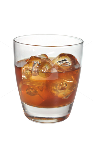 Scotch on the Rocks stock photo, Scotch on the rocks isolated on white background with clipping path. by Danny Hooks