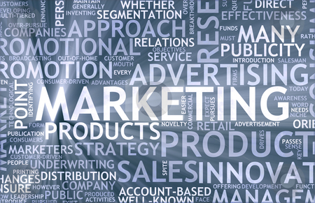 Marketing stock photo marketing background as art with related terms