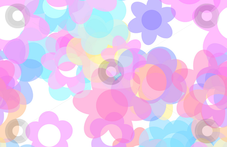 Pink Flower Cartoon Background