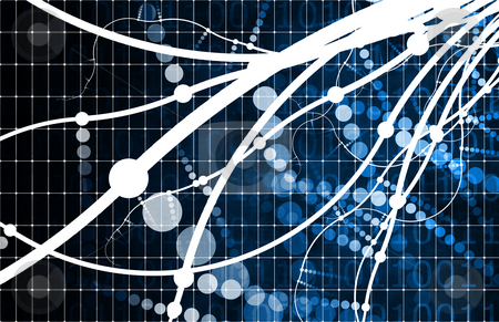 Blue Technology Abstract stock photo, Blue Technology Abstract as a Data Energy Grid by Kheng Ho Toh