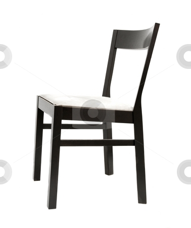 Chair stock photo, Simple chair isolated on pure white background by P?
