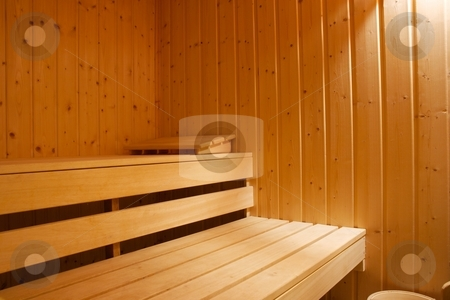 Sauna stock photo, Interior shot of a sauna by P?