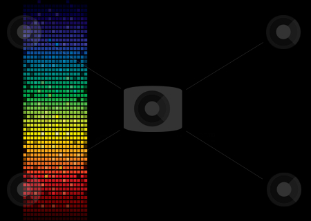 Rainbow spectrum banner stock vector clipart, Rainbow abstract background banner with room to add your own text by Michael Travers