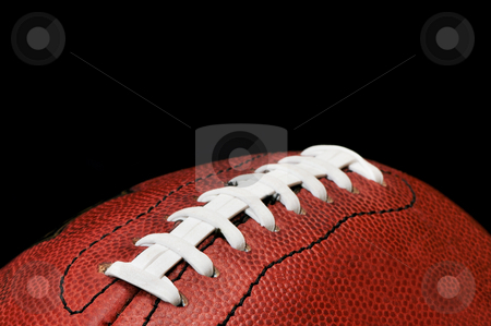 Football Closeup Isolated on Black stock photo, American football closeup isolated on black background. by Danny Hooks
