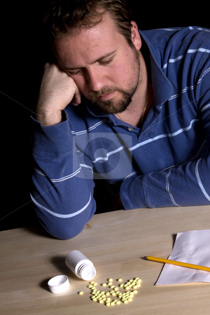 Man Drug Addiction Problem stock photo, Man Taking Drugs - Man Drug ...