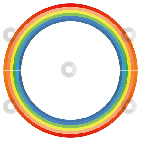 Rainbow circle stock photo, Rainbow circle isolate in a white background by Su Li