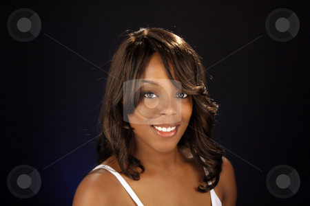 Beautiful BlackWoman, Headshot (8) stock photo, An extraordinarily beautiful young black woman. by Carl Stewart