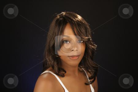 Beautiful BlackWoman, Headshot (9) stock photo, An extraordinarily beautiful young black woman. by Carl Stewart