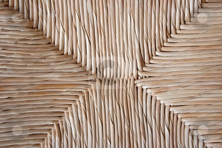 Texture stock photo, Reed background texture of a chair by P?