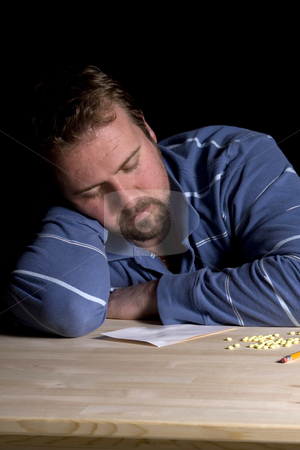 Man Drug Addiction Problem stock photo, Man Taking Drugs - Man Drug Addiction Problem by Mehmet Dilsiz