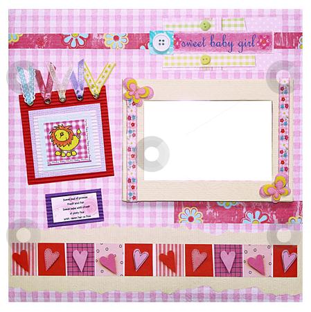 Photo Album Cover stock photo, A hand crafted scrapbook photo album design by Rey Gabudao