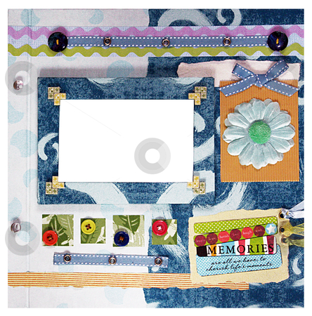 Scrapbook design stock photo, A hand crafted colorful scrapbook album design by Rey Gabudao
