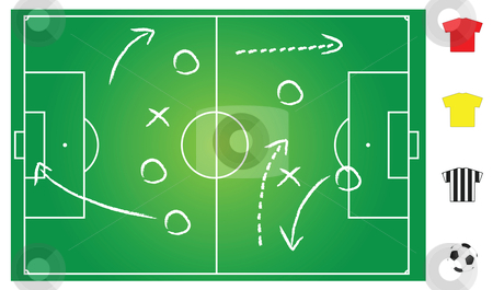 Soccer game play stock vector clipart,  by Mtkang